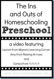 Homeschooling Preschool