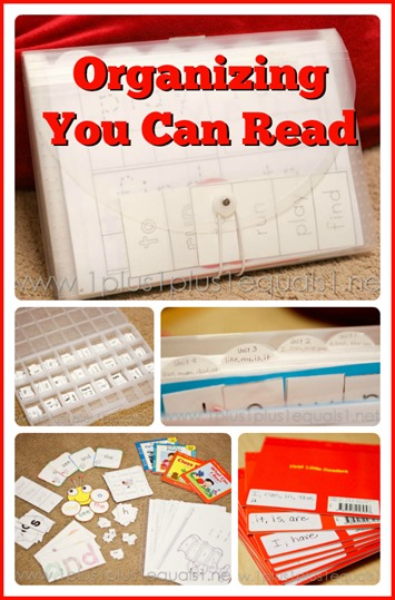 Organizing You Can Read Sight Words
