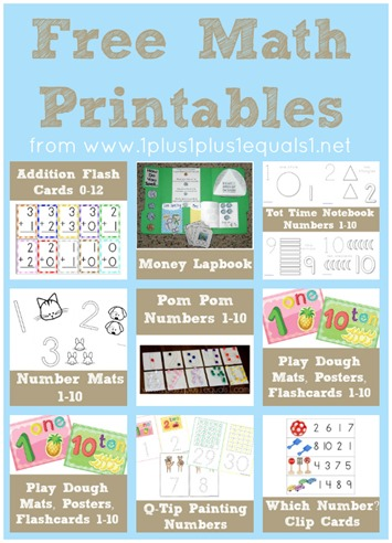 Free Math Printables from www.1plus1plus1equals1.net