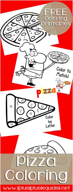 Free Pizza Coloring Printables