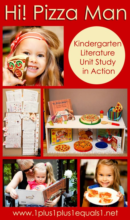 Hi Pizza Man Kindergarten Literature Unit Study in Action
