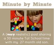 Minute by Minute Tot School