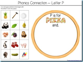 P is for Pizza Printable