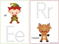 Christmas Fun Q-tip Printables
