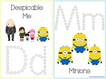 Despicable Me Q-tip Printables