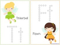 Tinkerbell Q-tip Printables