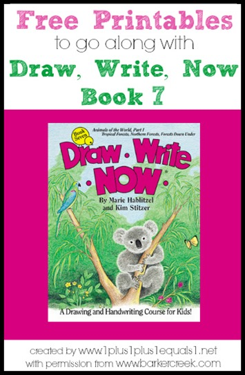 FREE Draw, Write, Now  Printables - these are such a great way for kids to learn to draw and practice handwritting at the same time (homeschool, prek, kindergarten, first grade, 2nd grade, 3rd grade, 4th grade)