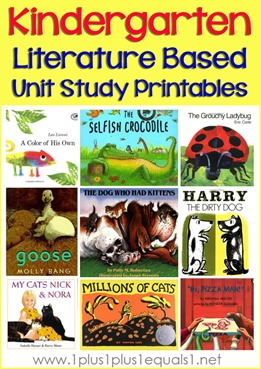Kindergarten Literature Unit Printables