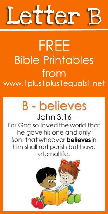 Bible verse printables letter b 1 1 1 1 for 1 plus 1 equals window