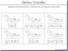 Color Word Crocs