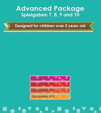 Spielgaben Advanced Package ages 5  and up