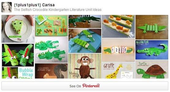 The Selfish Crocodile Pinterest Board