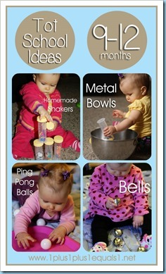 Tiny Tot School Ideas for Ages 9-12 Months