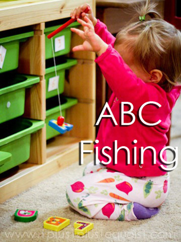 Tot School Ideas 18-24 Months -- ABC Fishing from www.1plus1plus1equals1
