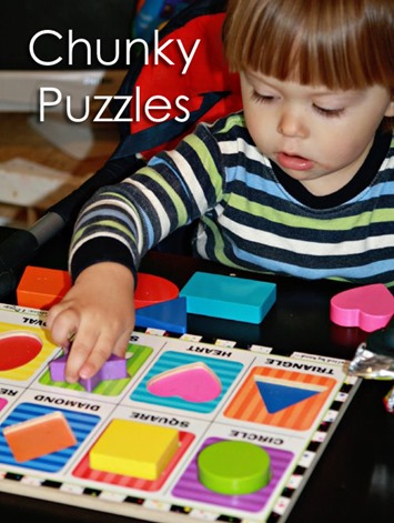 Tot School Ideas 18-24 Months -- Chunky Puzzles