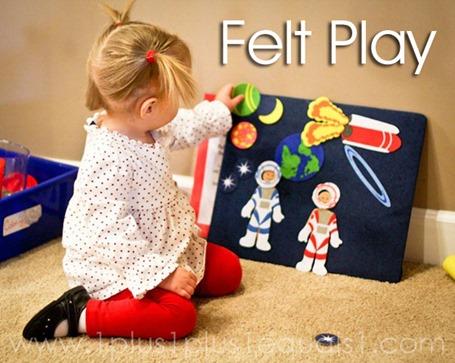 Tot School Ideas 18-24 Months -- Felt Play