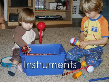 Tot School Ideas 18-24 Months -- Instruments