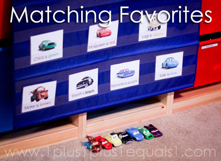 Tot School Ideas 18-24 Months -- Matching Favorites  from www.1plus1plus1equals1