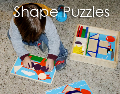 Tot School Ideas 18-24 Months -- Shape Puzzles from www.1plus1plus1equals1
