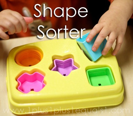 Tot School Ideas 18-24 Months -- Shape Sorter