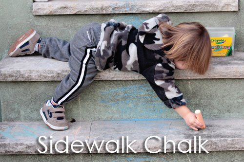 Tot School Ideas 18-24 Months -- Sidewalk Chalk from www.1plus1plus1equals1