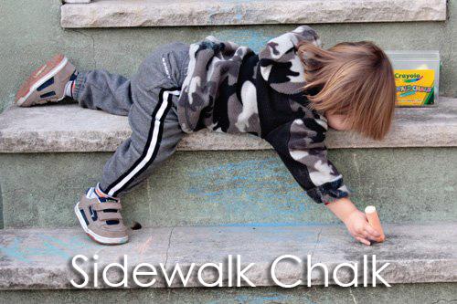 Tot School Ideas 18-24 Months -- Sidewalk Chalk from www.1plus1plus1equals1