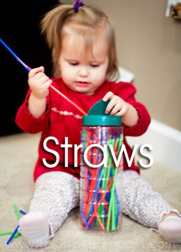 Tot School Ideas 18-24 Months -- Straws