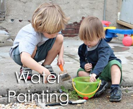 Tot School Ideas 18-24 Months -- Water Painting