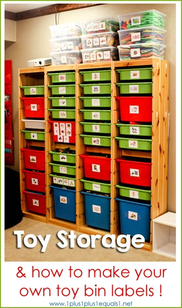 Toy Storage Solutions and How to Make Your Own Toy Bin Labels