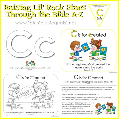 Bible Verse Printables Letter C is for Created