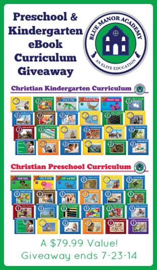 Blue Manor Preschool and Kindergarten eBook Giveaway