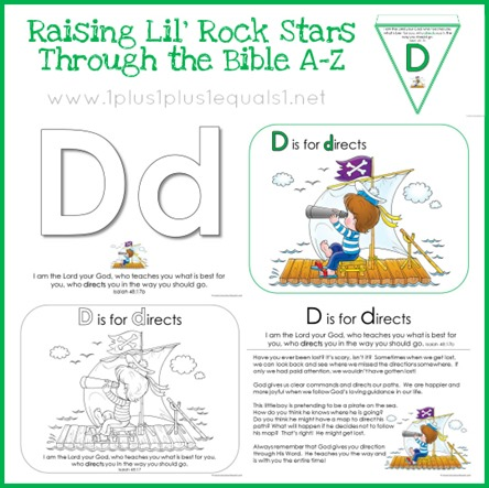 Bible Verse Printables Letter D is for Directs