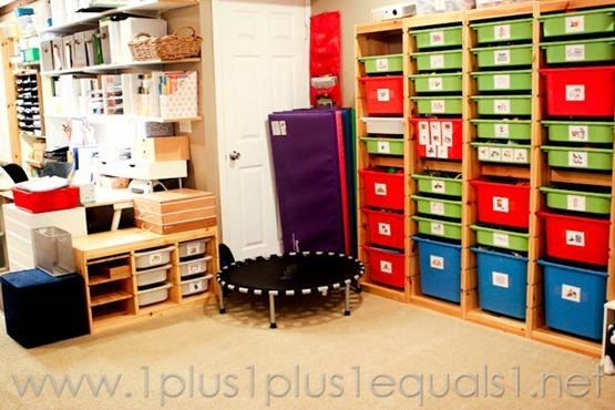 Homeschool Room Movement Area