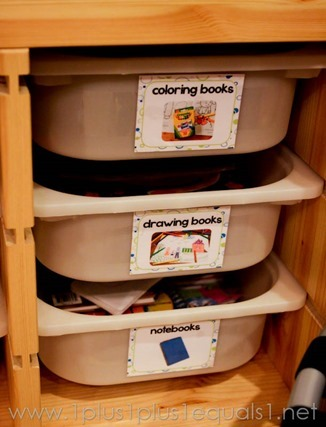 Homeschool Room Drawers