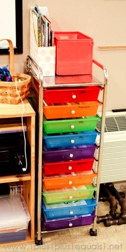 Homeschool Room Storage Drawers