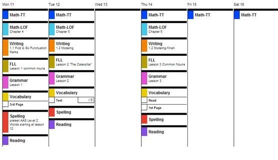 Lesontrek 3rd Grade Plans