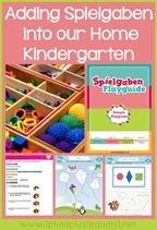 Spielgaben in Homeschool Kindergarten
