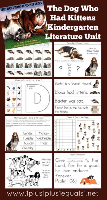 Kindergarten Literature Unit Printables The Dog Who Had Kittens