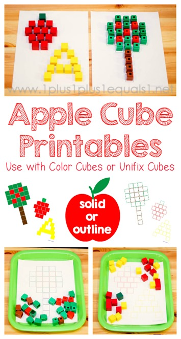 Apple Cube Printables