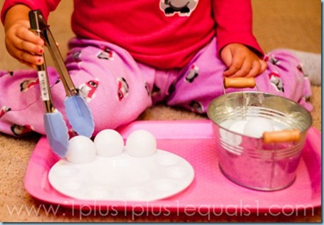 Tot Tray Transfer Ping Pong Balls with Tongs