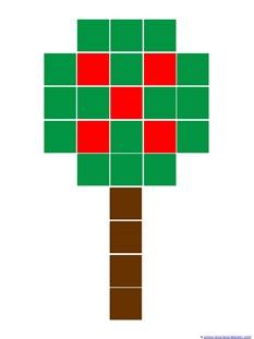 Apple Tree Cube Printable