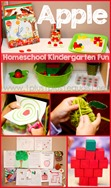 Apple Theme Homeschool Kindergarten Fun