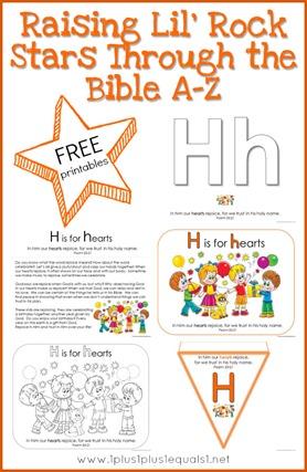 Bible Verse Printables Letter H