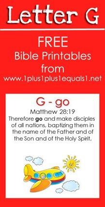 RLRS Letter G Matthew 28 Bible Verse Printables