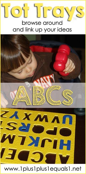 Alphabet Tot Tray Ideas Collection