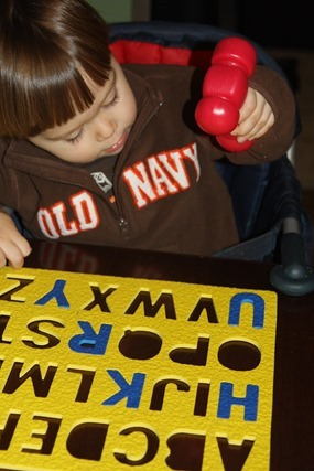 Hammering the Alphabet Puzzle