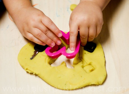 Alphabet Cookie Cutters and Play Dough