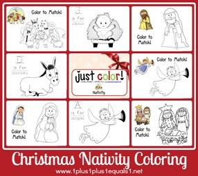 Just Color Nativity
