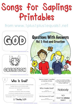 Questions with Answers Volume 1 God and Creation Printables