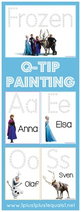 Frozen Printables Q-Tip Painting